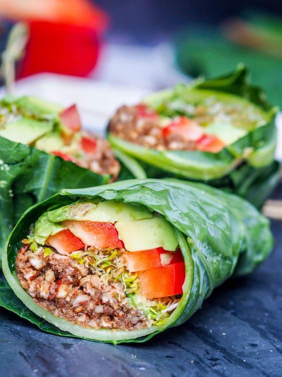 Raw Vegan Recipes Collard Wraps
