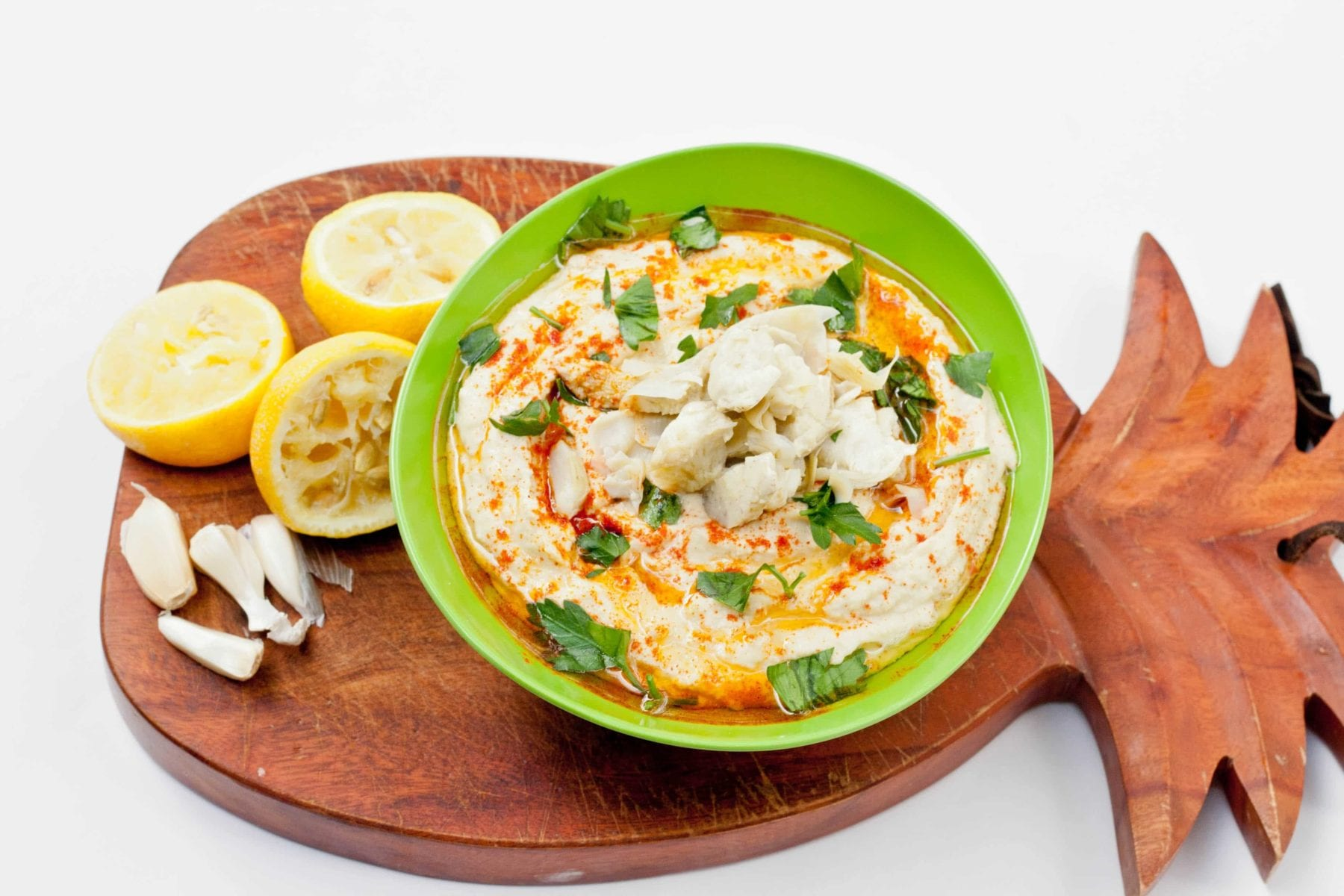 lemon artichoke hummus
