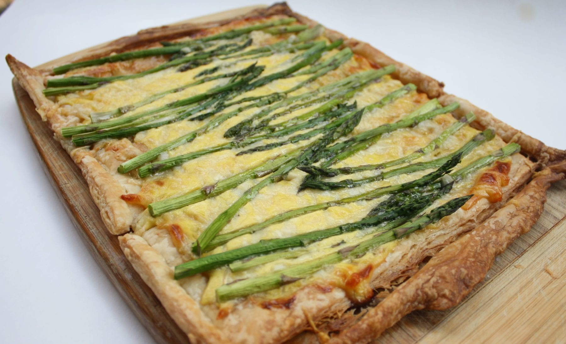 Puff Pastry Tart with Asparagus and Gruyere