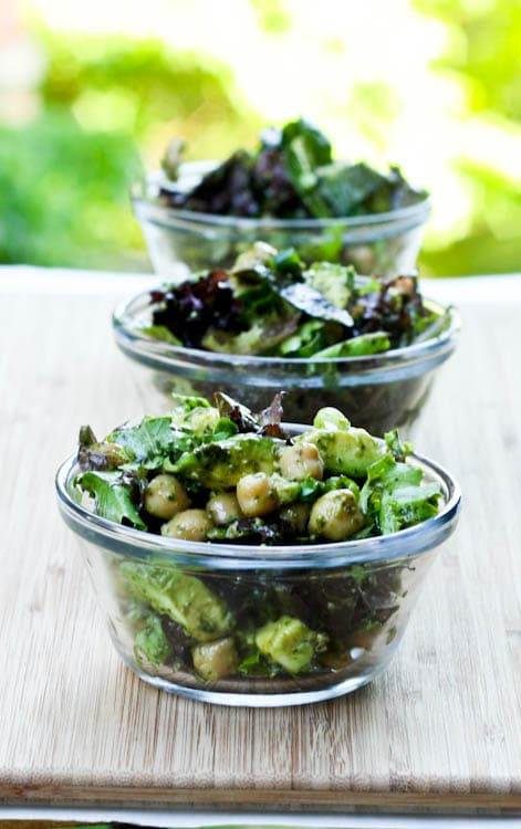 Avocado Chickpea Salad with Vegan Pesto - perfect vegan dinner recipe