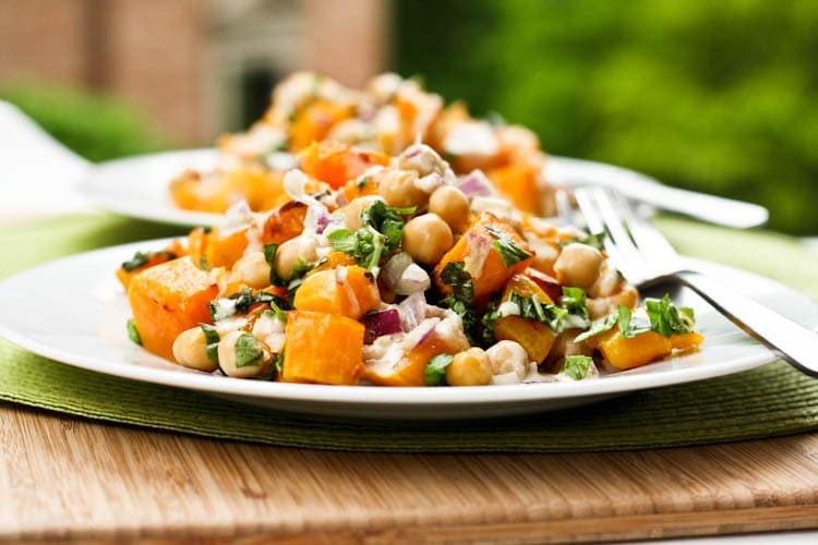 butternut squash chick pea salad