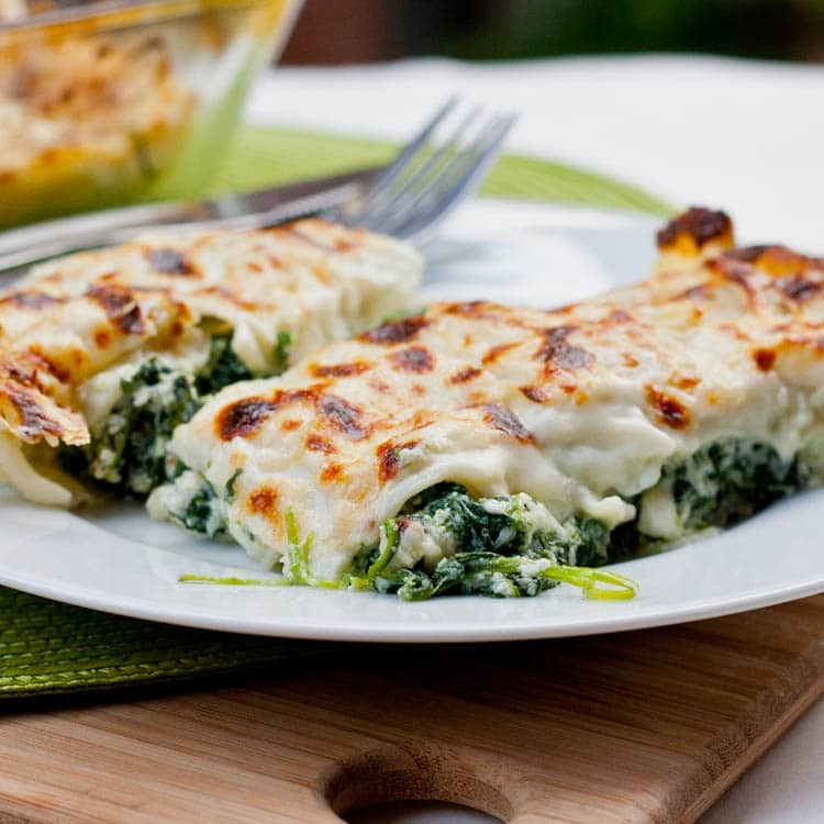 Italy - Cannelloni with Spinach Ricotta Filling