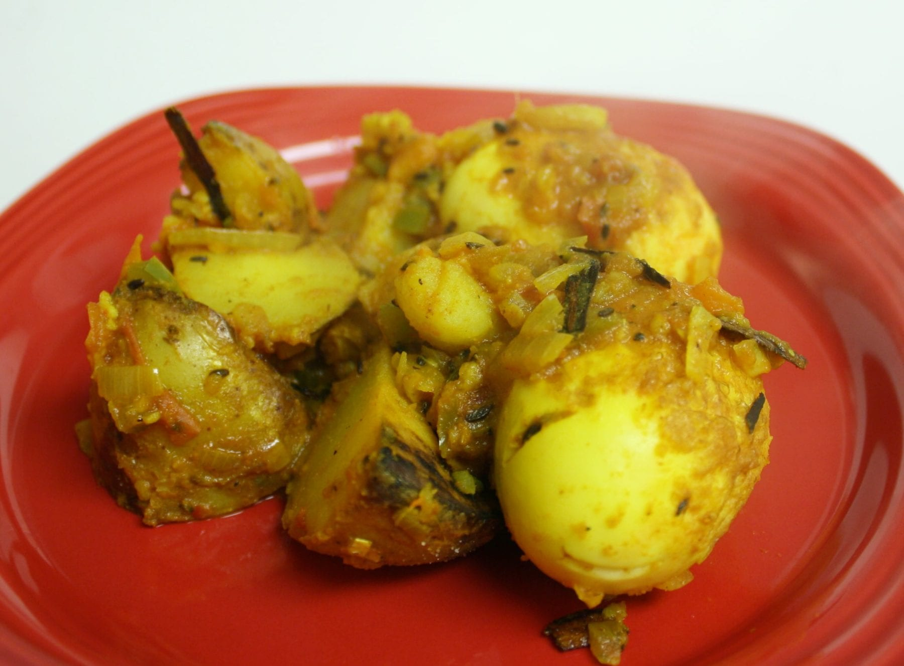 Delectable Spicy Indian Egg and Potato Curry Recipe