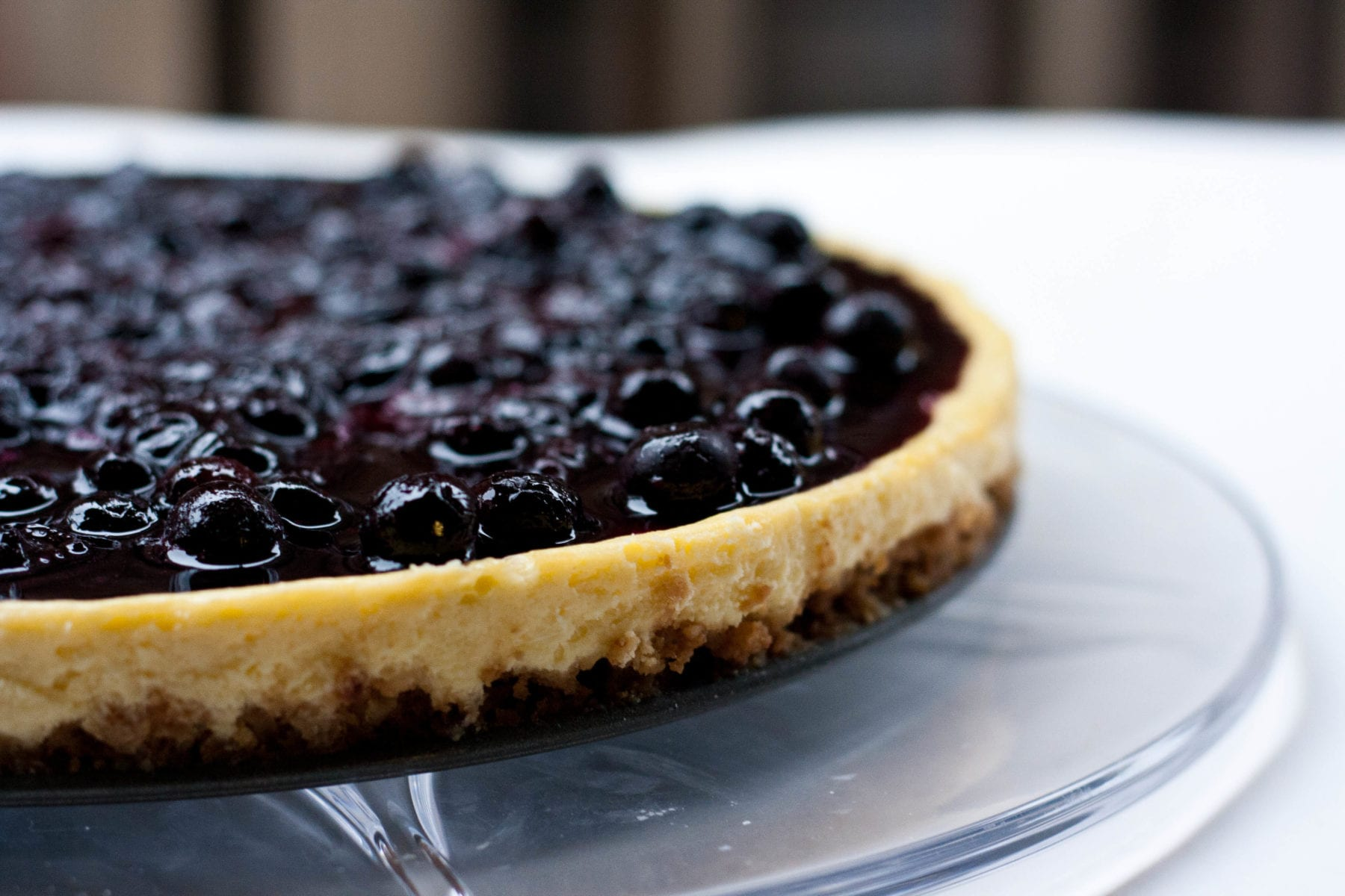 Crème Fraiche Cheesecake with Blueberry Topping