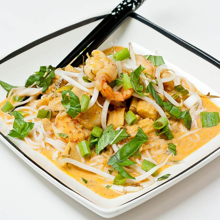 Panang Curry Paste Stir Fry with Shrimp