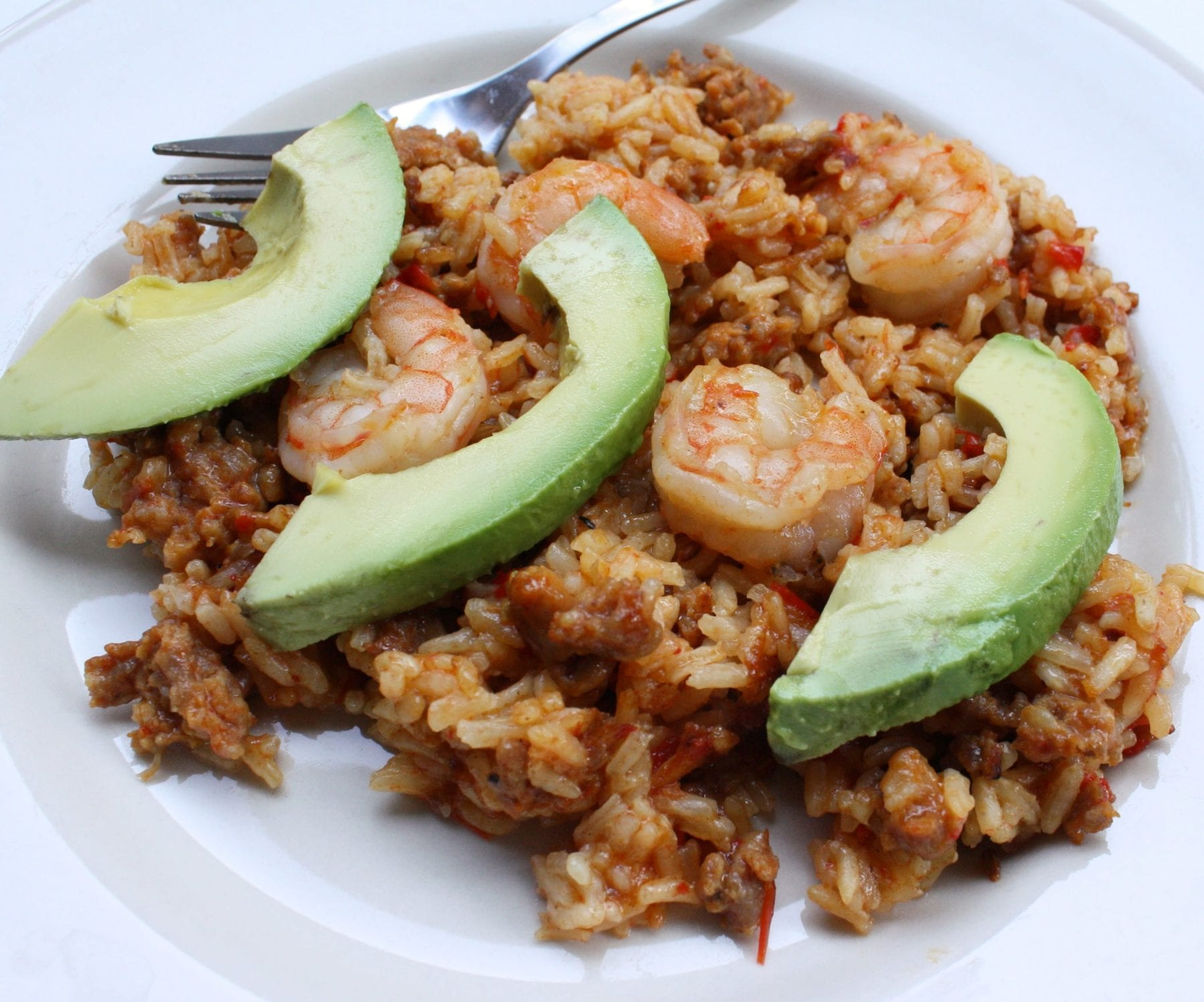 rice with sausage and shrimp