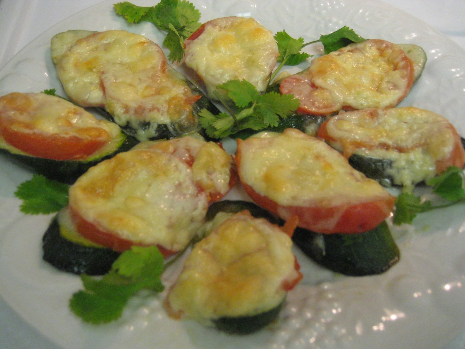 Baked Zucchini Circles with Cheese