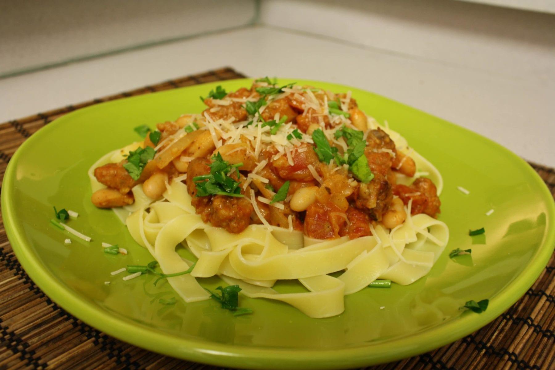 chorizo-bean-pasta