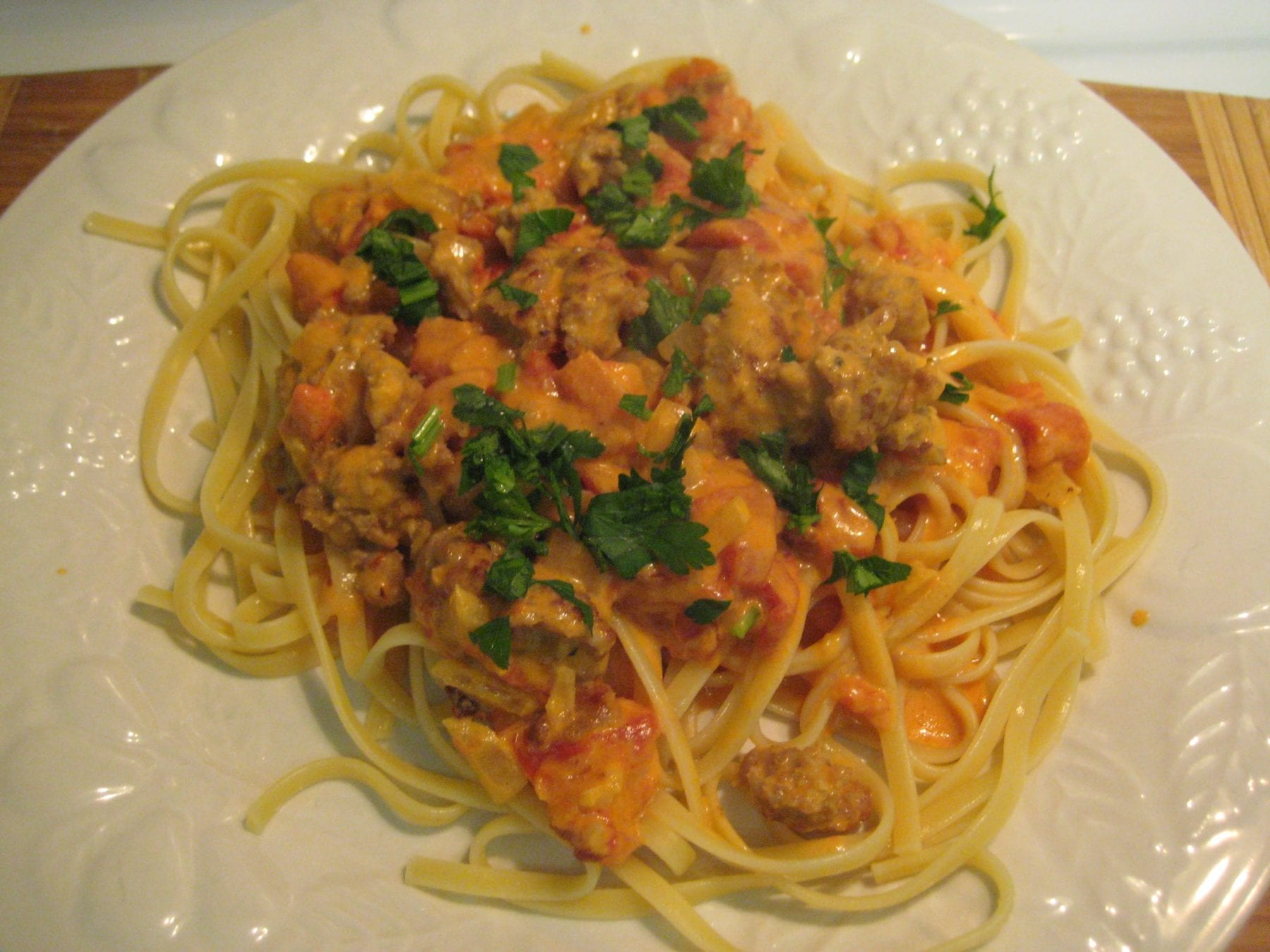 Linguine Sausage Pasta {Gluten-Free}