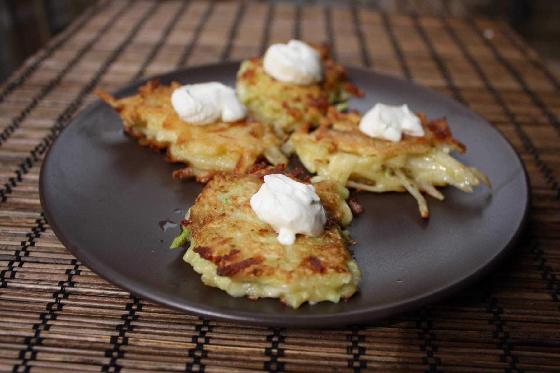 Potato and Zucchini Latkes {Gluten-Free}