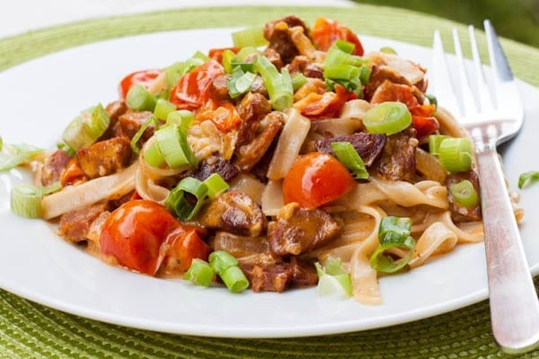 Chorizo Pasta with Tomatoes