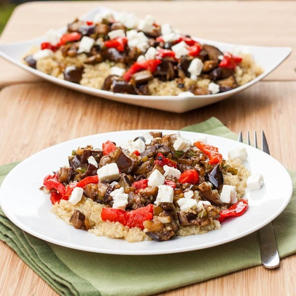 Quinoa with Eggplant and Feta