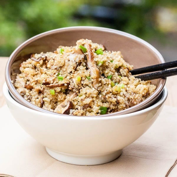 Vegan Quinoa with Mushrooms