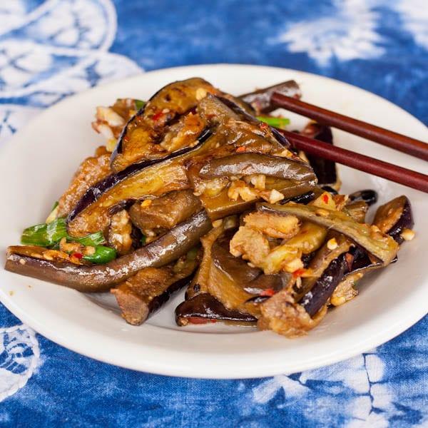 Garlic and Chili Chinese Eggplant Recipe {Gluten-Free, Vegan}