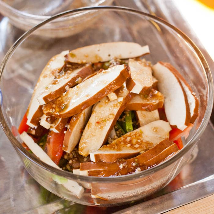 dried tofu salad
