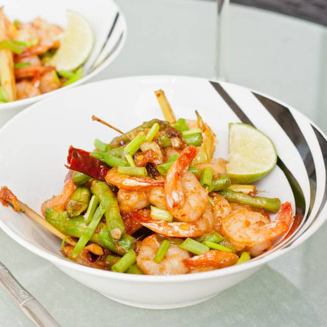roasted chili paste shrimp