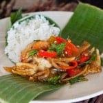 shrimp w roasted chili paste