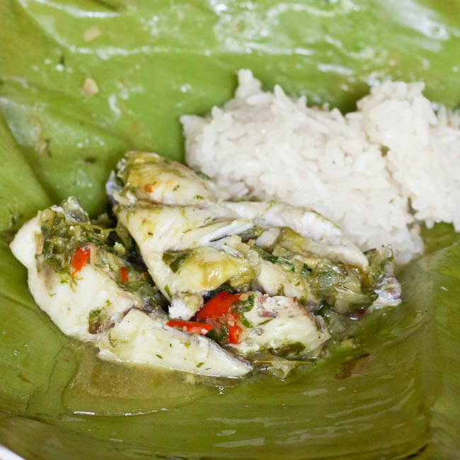 Mok Pa Recipe- Fish Steamed in Banana Leaves {Gluten-Free,Dairy-Free}