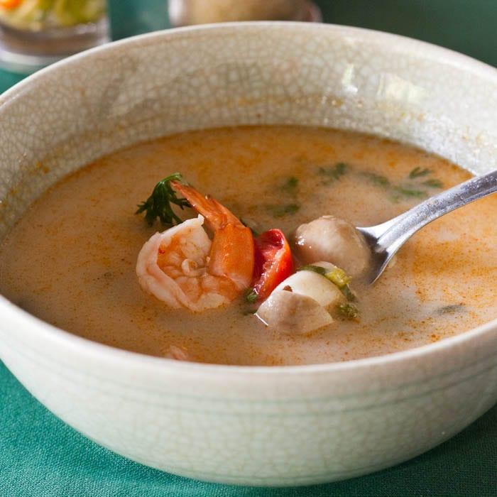 Thai Soup Shrimp Coconut Milk - Tom Kha {Gluten-Free, Dairy-Free}