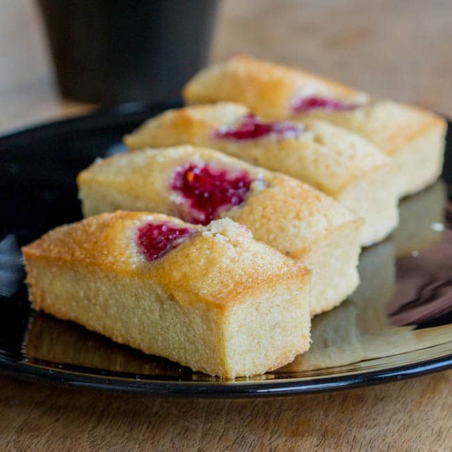 Chocolate And Raspberry Financiers Recipe — Dishmaps