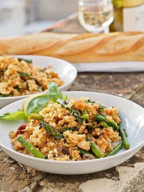 Paprika Chicken Asparagus Quinoa {Gluten-Free, Dairy-Free}