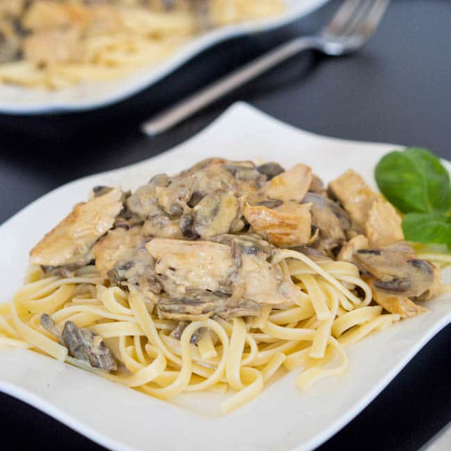 Dijon Chicken Pasta with Mushroom Recipe {Gluten-Free}