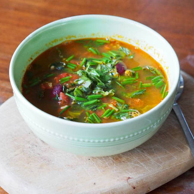 red-bean-kale-and-tomato-soup-with-pesto