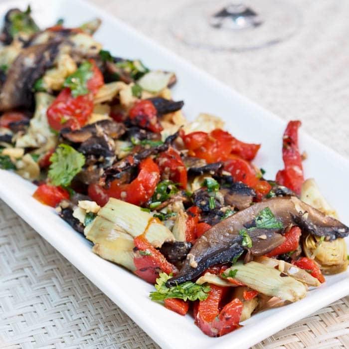 Red Pepper, Mushroom and Artichoke Salad {Gluten-Free, Vegan}