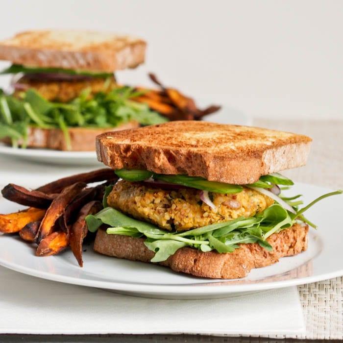 Vegan and gluten free Zucchini veggie burgers