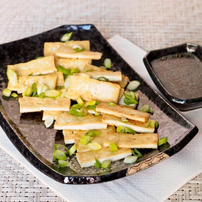 Pan Fried Tofu with Asian Sauce