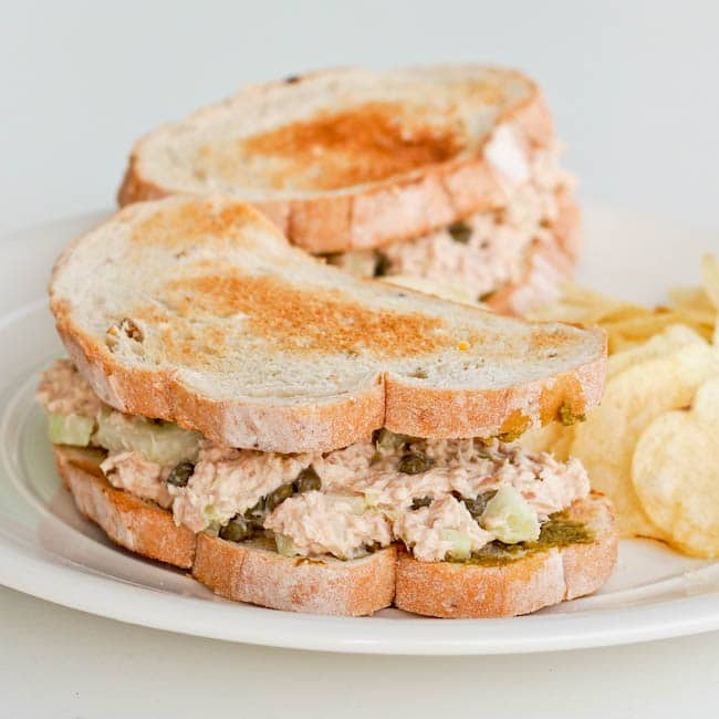 Tuna Sandwich with Pesto and Capers