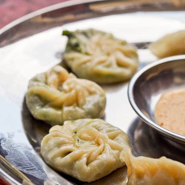 Spinach and Cheese Momos