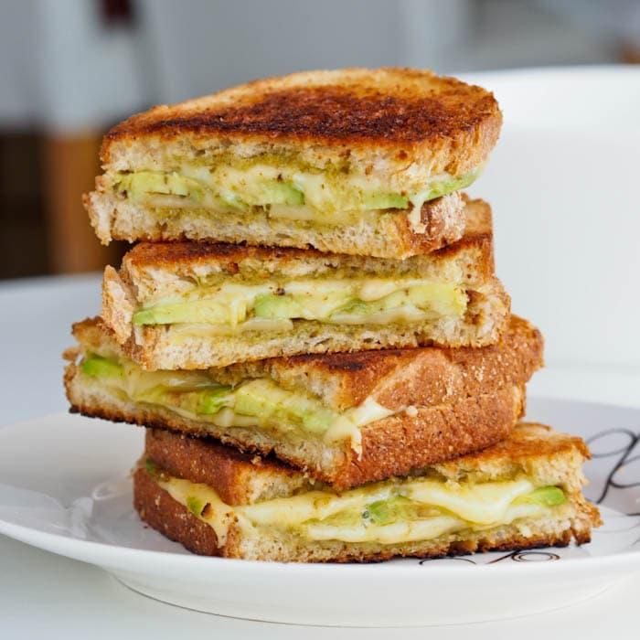 Pesto Avocado Grilled Cheese Sandwich Recipe {Gluten-Free}
