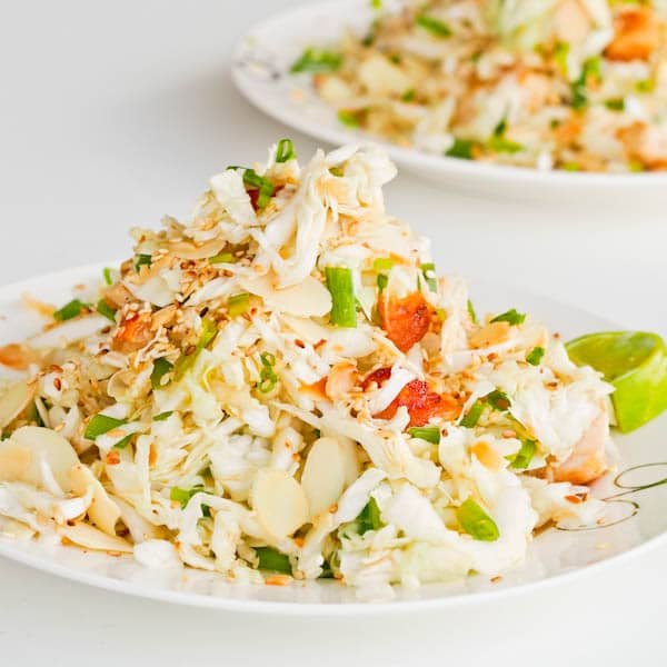 Napa Cabbage Almond Gluten Free Chicken Salad {Dairy-Free}