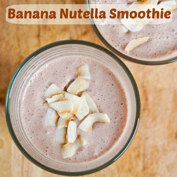 Creamy Banana Nutella Smoothie Recipe