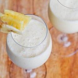 Vegan Piña Colada Smoothie {Gluten-Free, Sugar-Free}