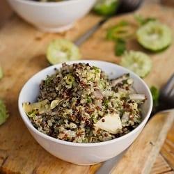 Lime Quinoa with Artichoke Hearts and Avocado {Gluten-Free, Vegan}