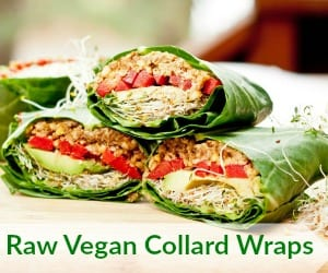 Raw Vegan Collard Wraps