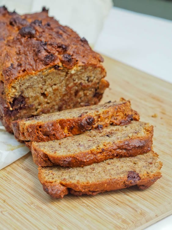 One Bowl Vegan Gluten Free Banana Bread with Dark ...