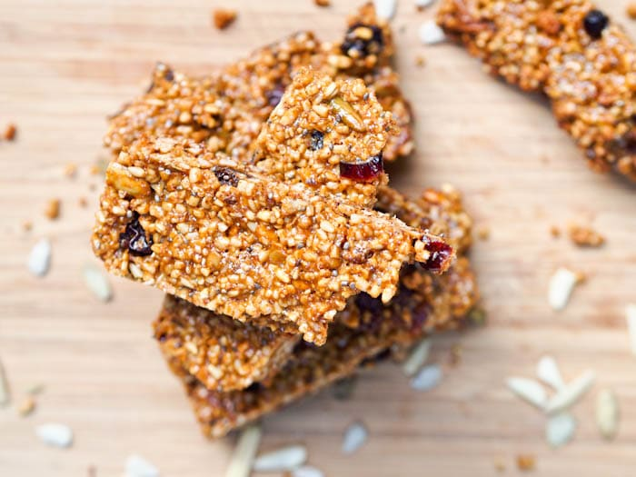 Vegan Fruit and Nut Bars with Granola Recipe {Gluten-Free}
