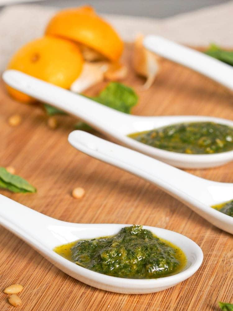 Vegan Basil Pesto {Gluten-Free}