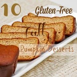 10 Gluten Free Fall Pumpkin Desserts