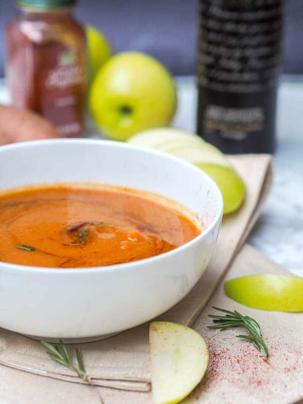Vegan Sweet Potato Apple Soup Recipe