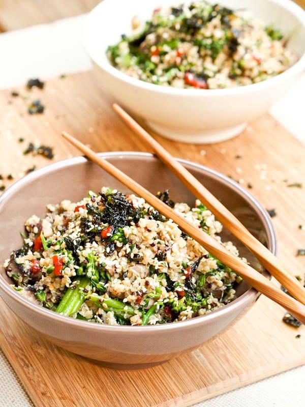 Vegan Asian Bowl with Quinoa Mushroom {Gluten-Free}