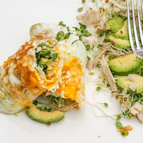 Low Carb Breakfast Egg Crepes with Avocados {Gluten-Free, Dairy-Free}