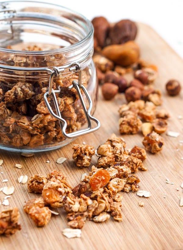 Hazelnut, Apricot and Fig Granola {Gluten-Free, Vegan}