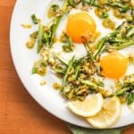 Sunny-Side-Up-Eggs-on-Brussels-Sprouts-Asparagus-Hash