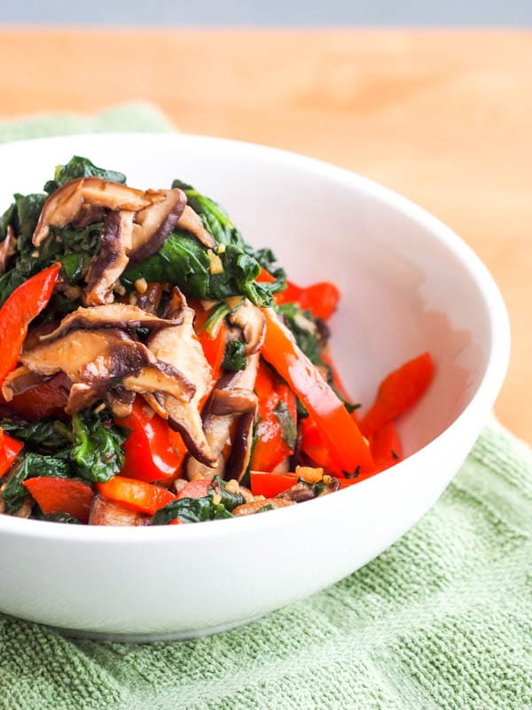 Stir Fried Vegan Shiitake Mushroom Recipe {Gluten-Free}