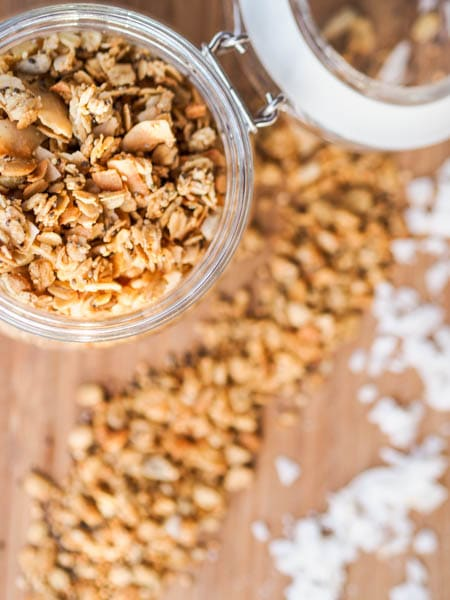 Nut Free Granola Recipe {Vegan, Gluten-Free, Refined Sugar-Free}