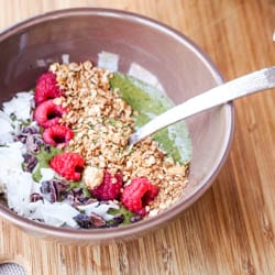 Spinach Acai Bowl Recipe {Gluten-Free, Vegan}